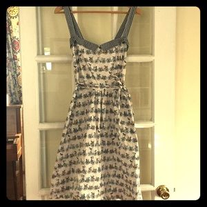 Retro Bicycle Print Dress